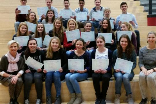 Diploma uitreiking DELF A2/B1